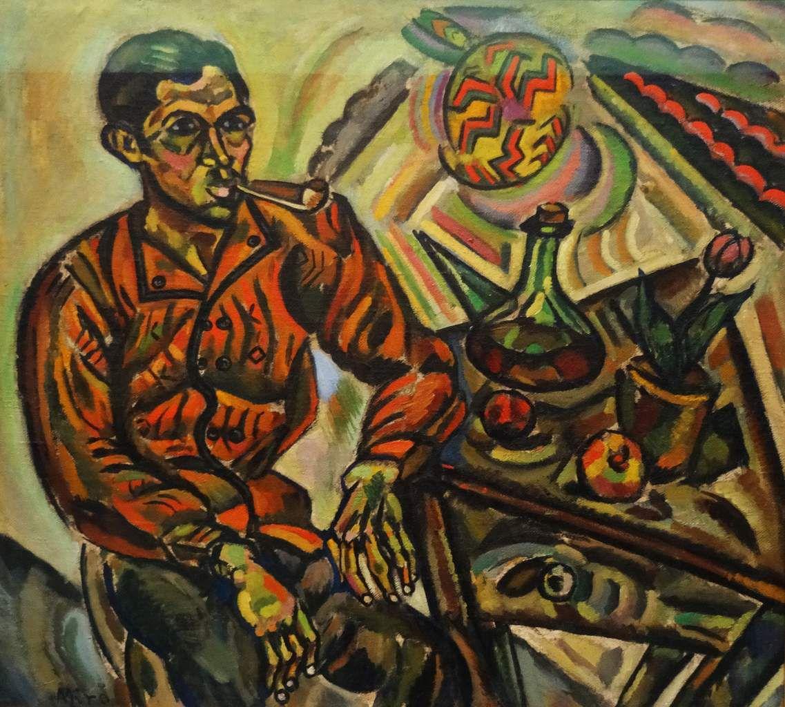 Portrait de Vicens Nubiola - 1917 - (Homme à la pipe) Huile sur toile