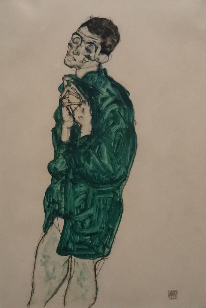 1914 - Autoportrait à la chemise verte