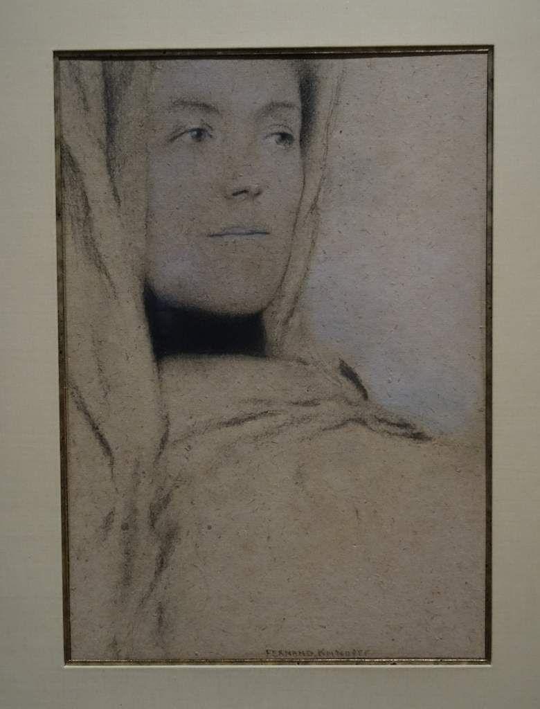 Le col noir - 1906 - Fusain et pastel sur papier