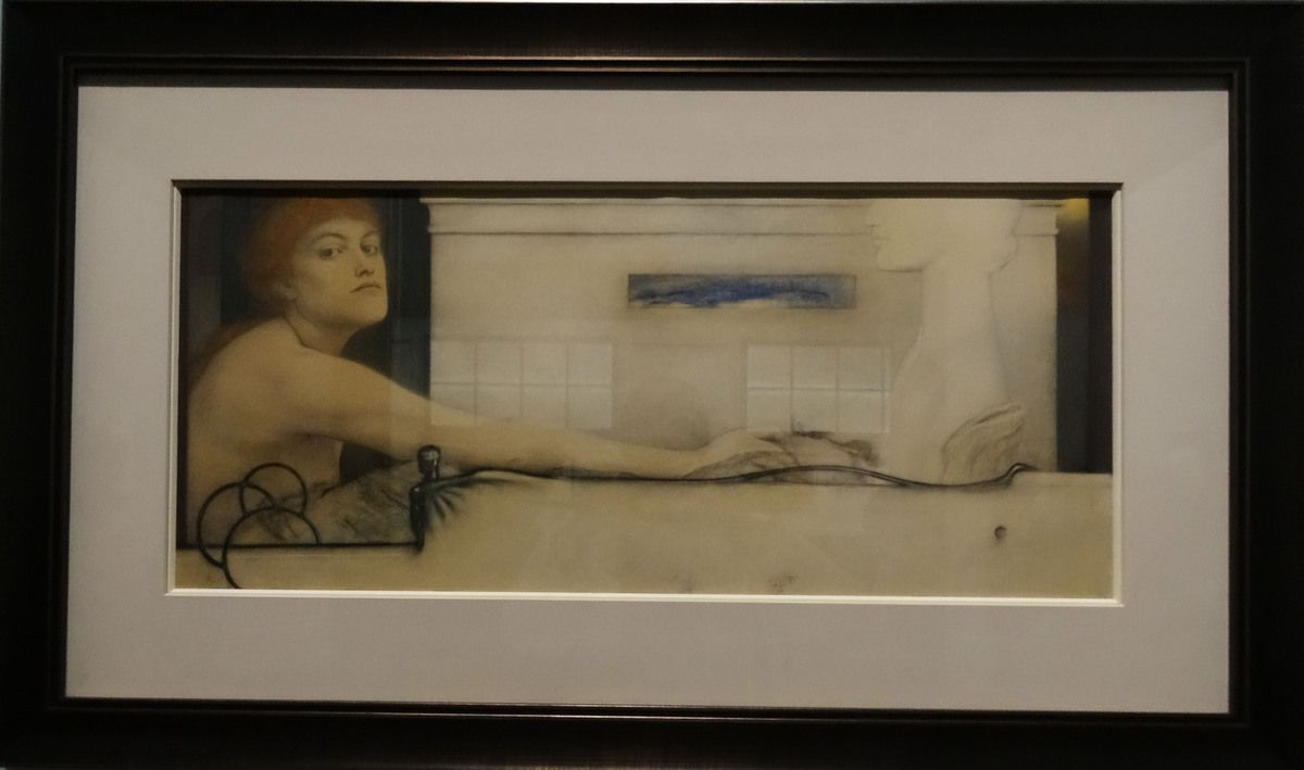 L'offrande ou Vers l'idéal - 1891 - Pastel sur papier
