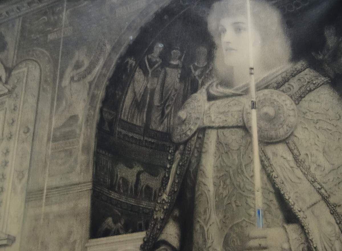 Requiem - 1905 - craie noire, crayon de couleur sur papier - Prêtresse d'un culte inconnu