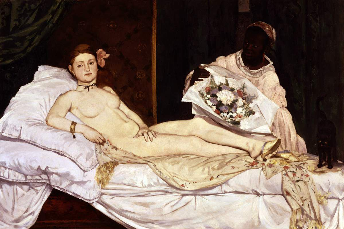 Manet - Olympia - 1863 - Huile sur toile 130x191 - photo wipikedia