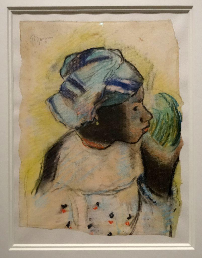 Paul Gaugin - Tête de femme Martinique - craie - 1887