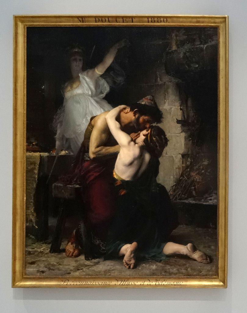 Henri-Lucien Doucet - Reconnaissance d'Ulysse et Télémaque sous le regard d'Athena - 1880 - Huile sur toile