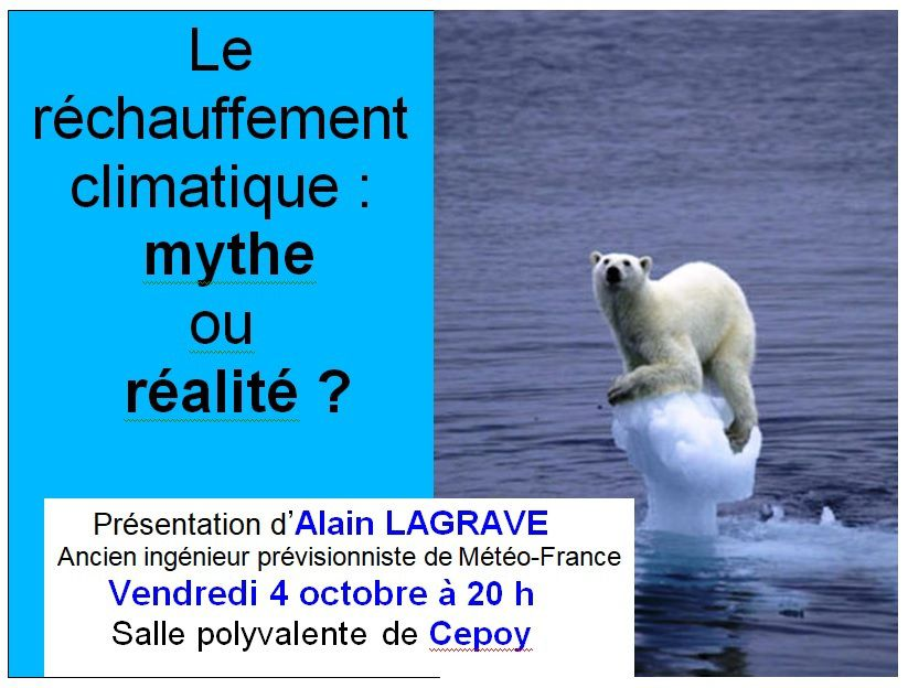 Conférence à Cepoy vendredi 4 Octobre à 20h