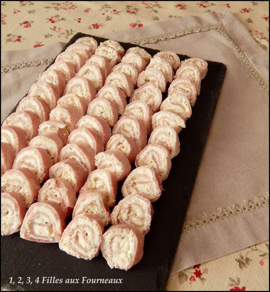 Petits roulés de jambon au fromage ail & fines herbes