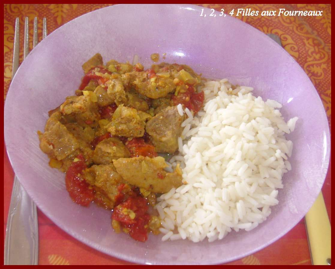 Porc au curry  (recette tupperware)