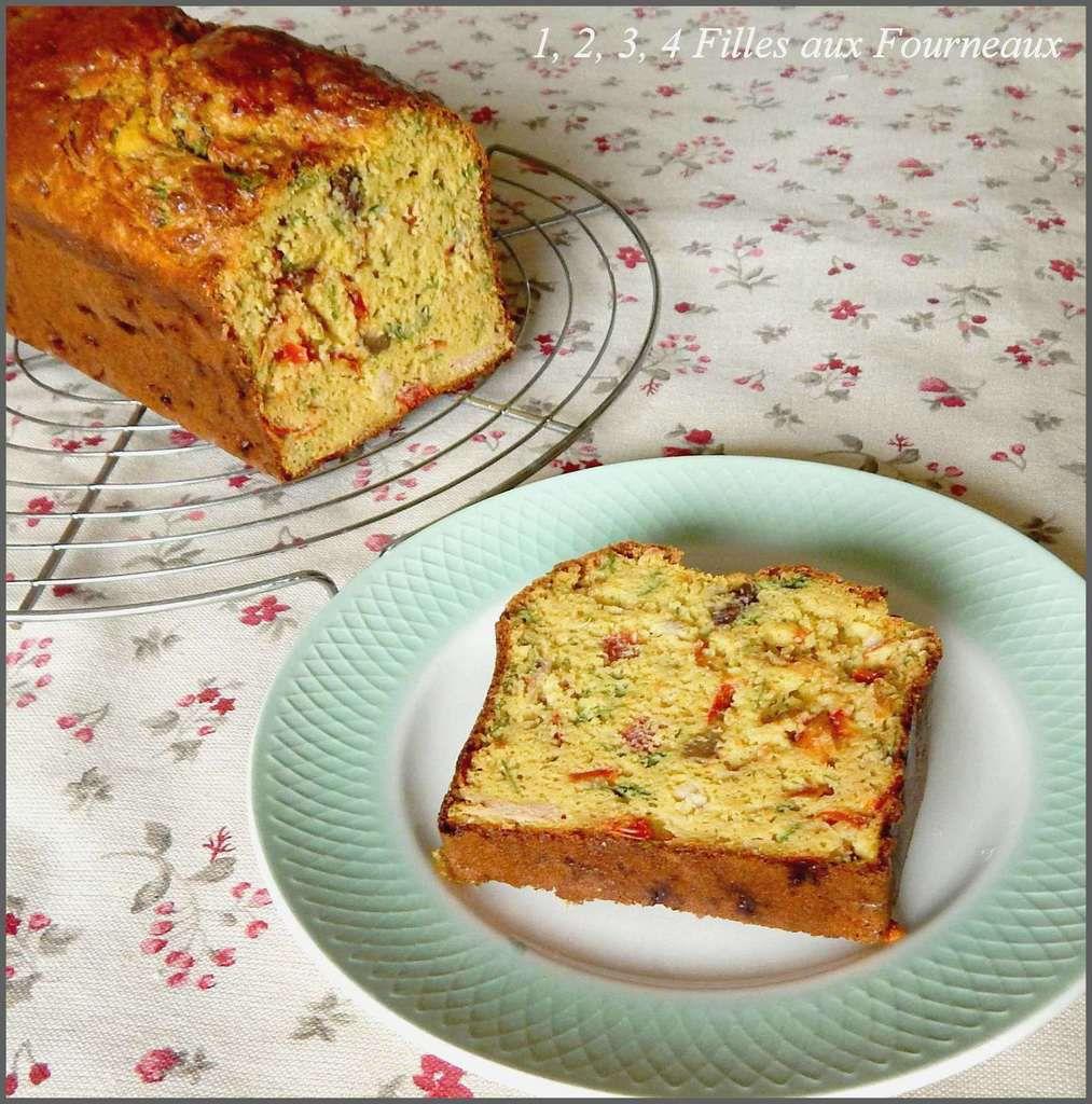 Cake au thon, aux poivrons et à la farine de pois chiches  (délicieusement parfumé et très moelleux !!!)
