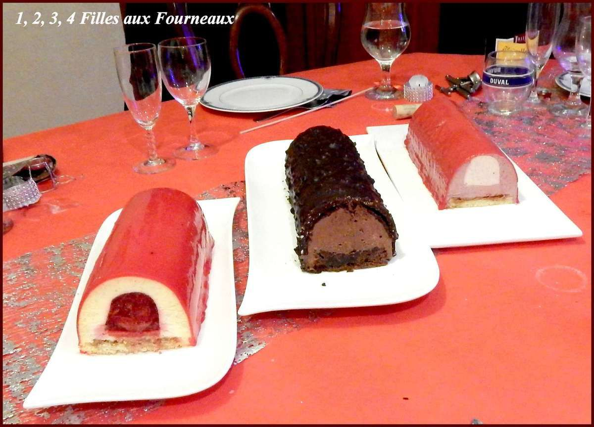 Bûche Vanille - Fraise  (un délice !!!)