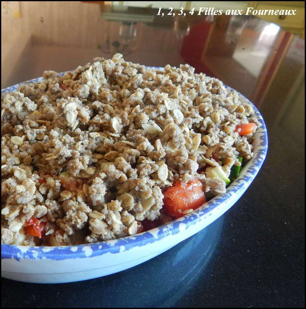 Crumble IG bas Tomate - Courgette