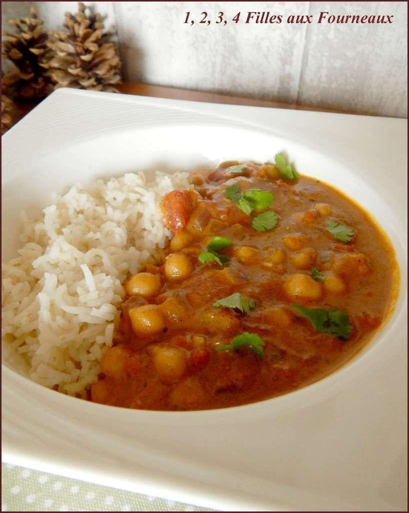 le meilleur curry de pois chiches au lait de coco, curry de pois chiche au lait de coco, curry pois chiche, curry pois chiche facile