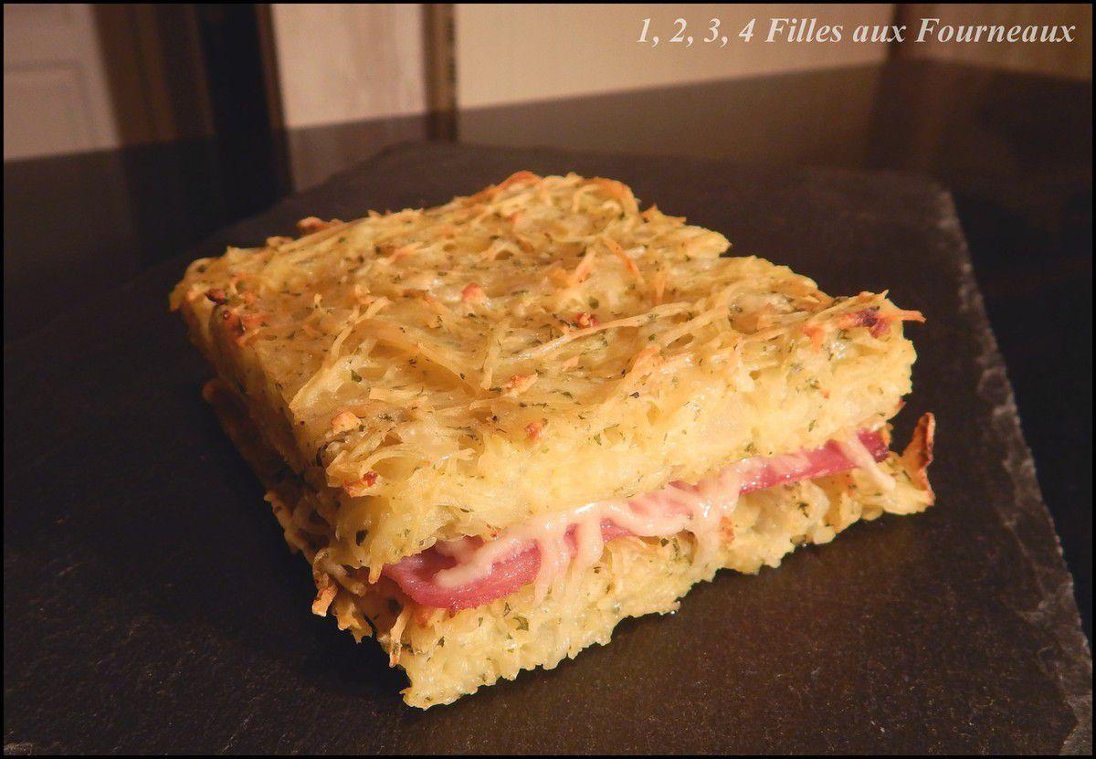 croque monsieur pomme de terre rapee jambon fromage