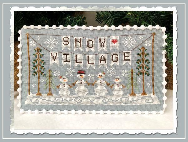 Snow Village. La Nueva Colección de Country Cottage Needleworks