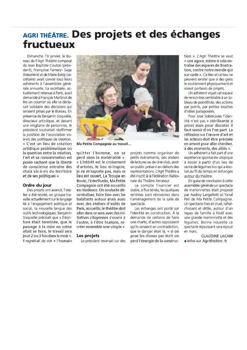 Assemblée Générale - Retours de la vie Quercynoise et de la Dépêche