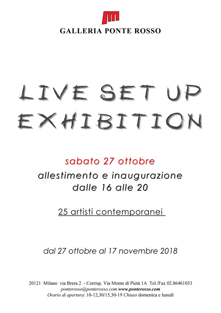 LIVE SET UP EXHIBITION