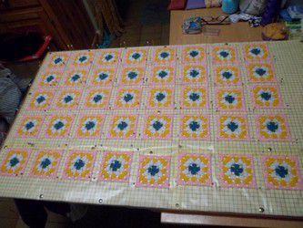 Couverture Patchwork crochet