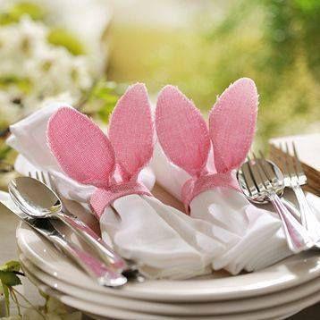 Déco de table : œufs lapins