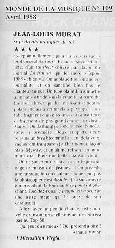 """1988: 30 ans du """"GARCON QUI MAUDIT LES FILLES"""""""