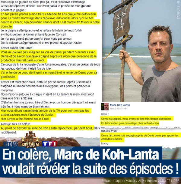 En colère, Marc de Koh-Lanta voulait révéler la suite des épisodes ! #KohLanta