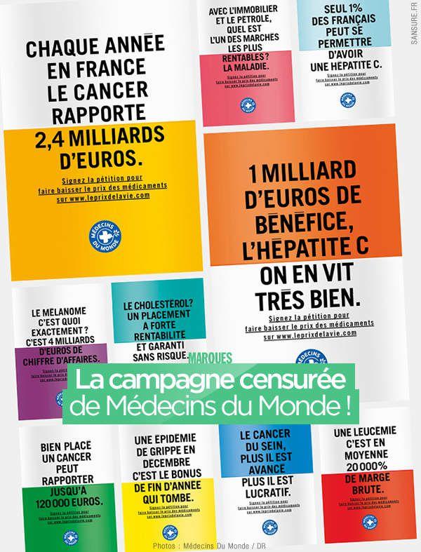 La campagne censurée de Médecins du Monde ! #LePrixDeLaVie