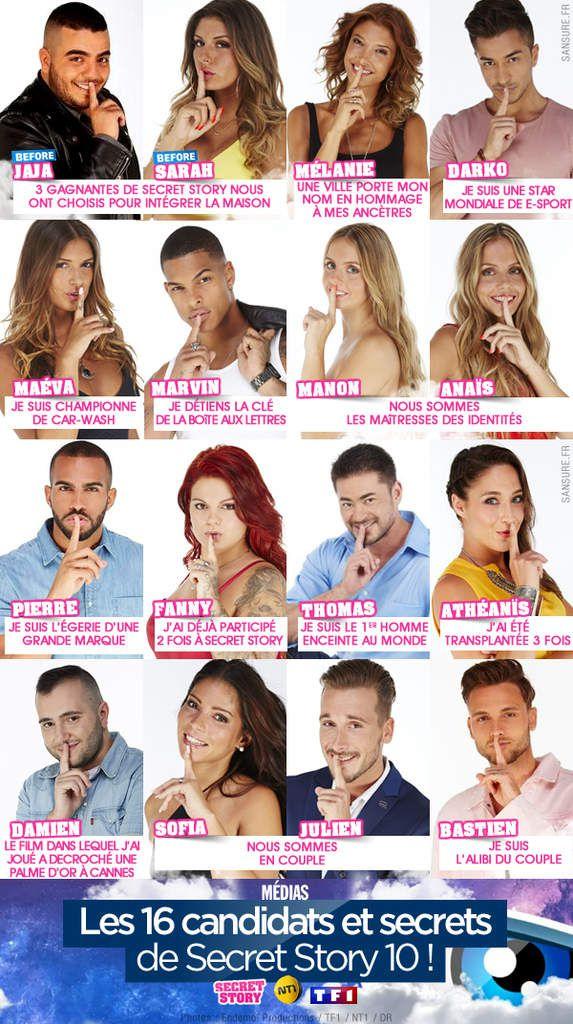 Les 16 candidats et secrets de Secret Story 10 ! #SS10