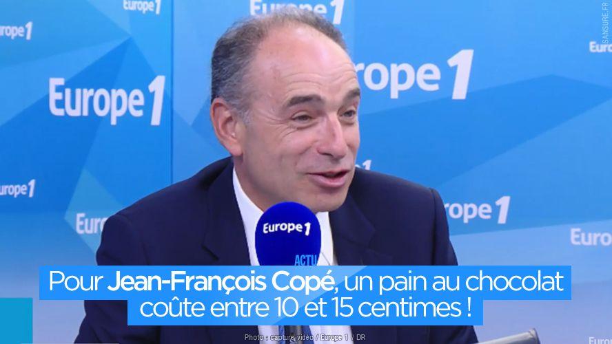 Pour Jean-François Copé, un pain au chocolat coûte entre 10 et 15 centimes ! #Copé
