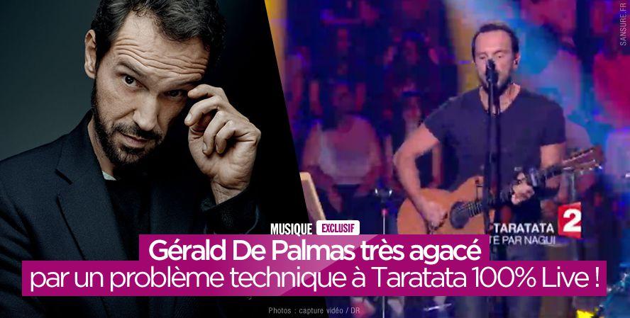 Gérald De Palmas très agacé par un problème technique à Taratata 100% Live ! #PasVuALaTV