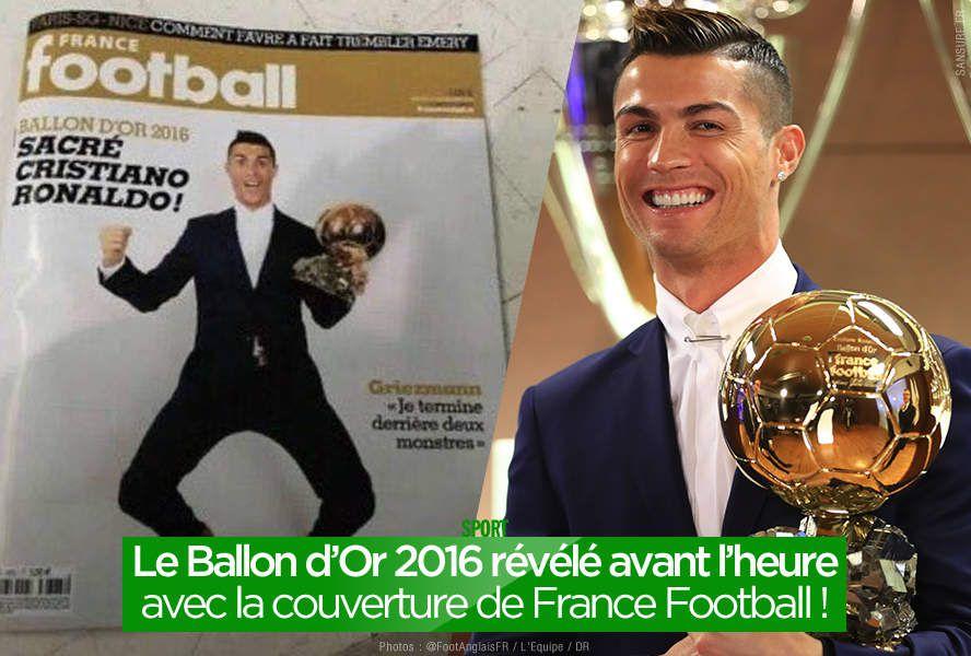 Le Ballon d'Or 2016 révélé avant l'heure avec la couverture de France Football ! #BallonDor