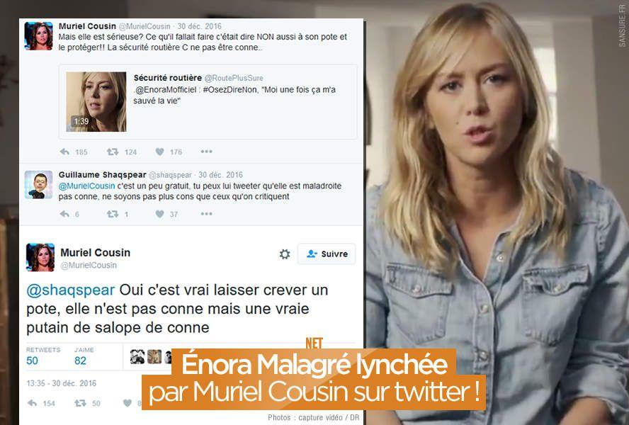 Énora Malagré lynchée par Muriel Cousin sur twitter ! (mis à jour) #OsezDireNon