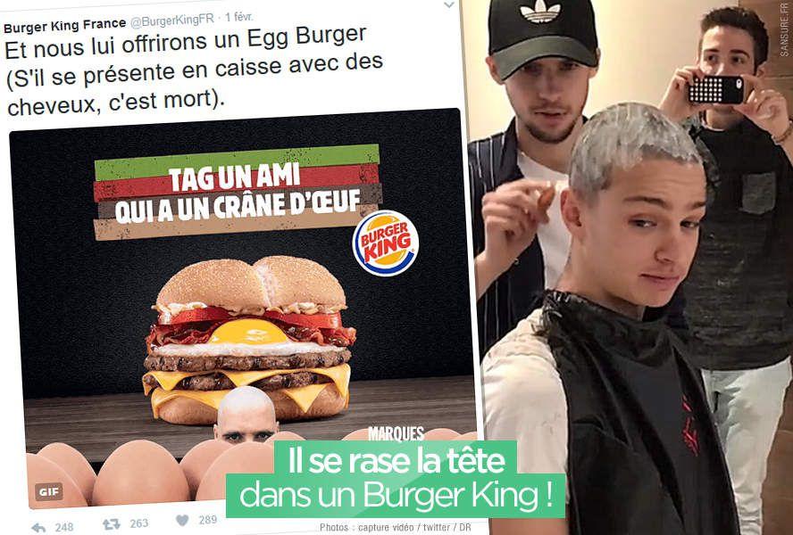 Il se rase la tête dans un Burger King ! #EggBurger