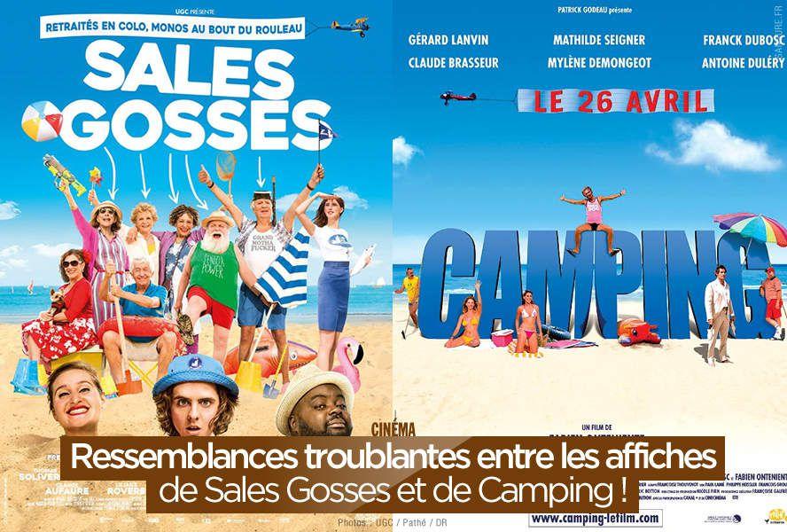 Ressemblances troublantes entre les affiches de Sales Gosses et de Camping ! #copie
