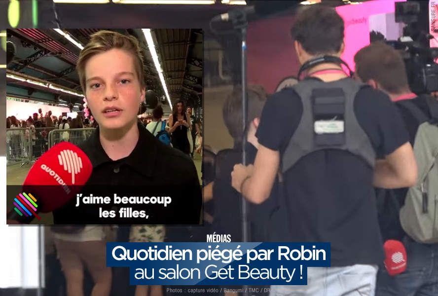 Quotidien piégé par Robin au salon Get Beauty ! #Quotidien