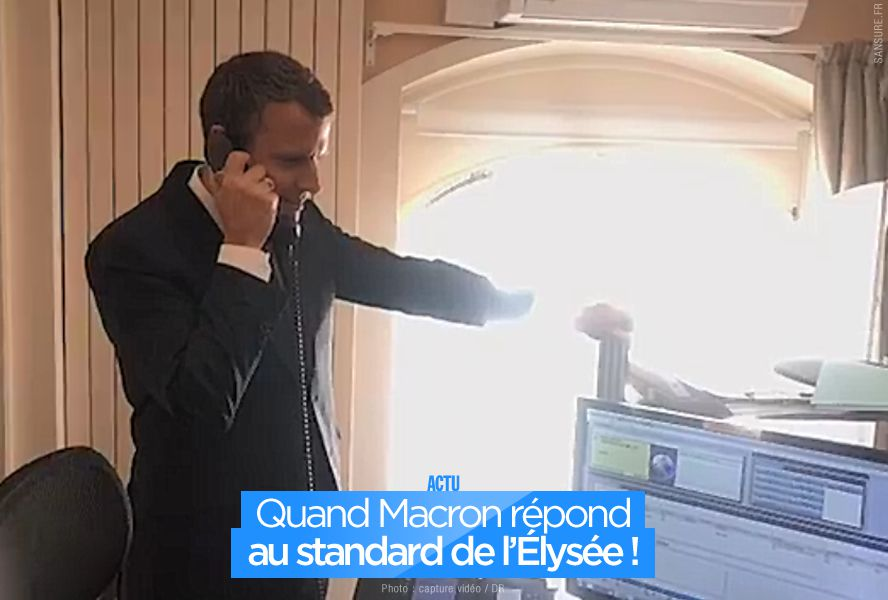 Quand Macron répond au standard de l'Élysée ! #Allo
