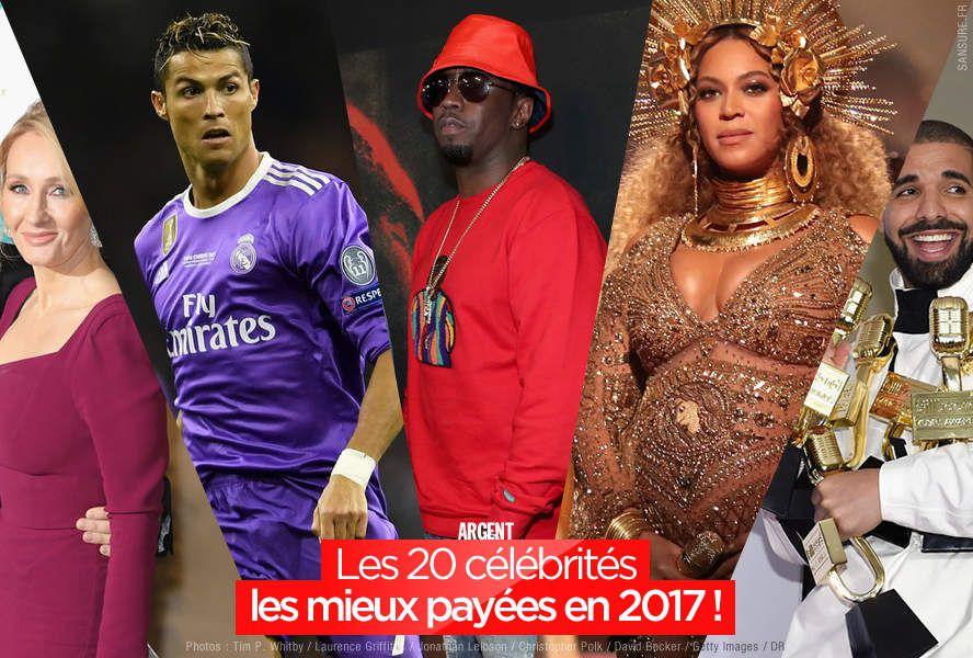 Les 20 célébrités les mieux payées en 2017 ! #business