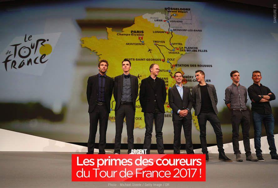 Les primes des coureurs du Tour de France 2017 ! #TDF2017
