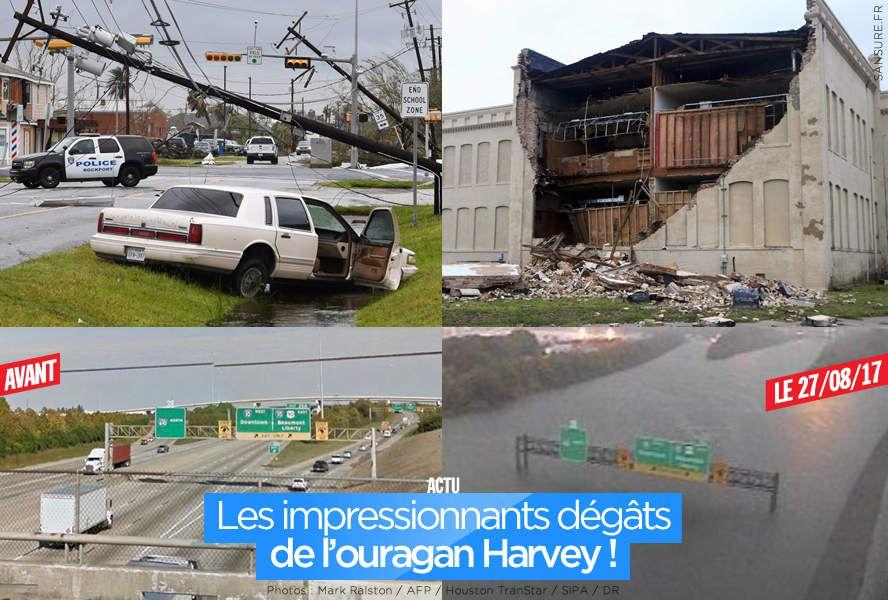 Les impressionnants dégâts de l'ouragan Harvey ! #Harvey