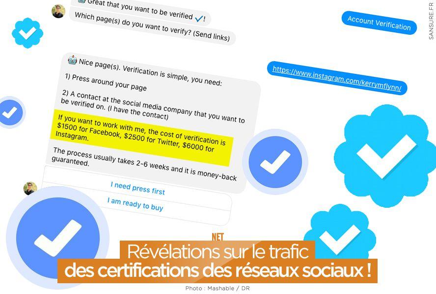 Révélations sur le trafic des certifications des réseaux sociaux ! #officiel