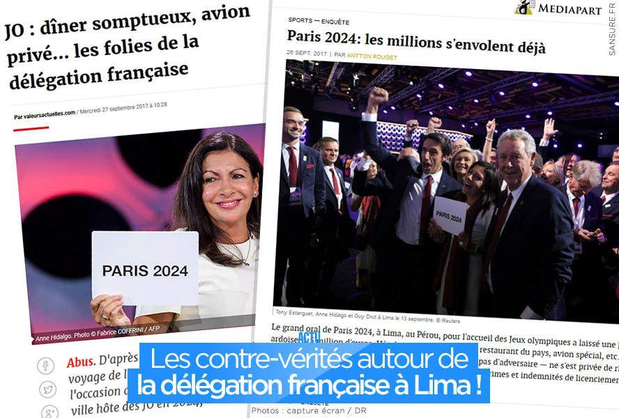 Les contre-vérités autour de la délégation française à Lima ! #Paris2024