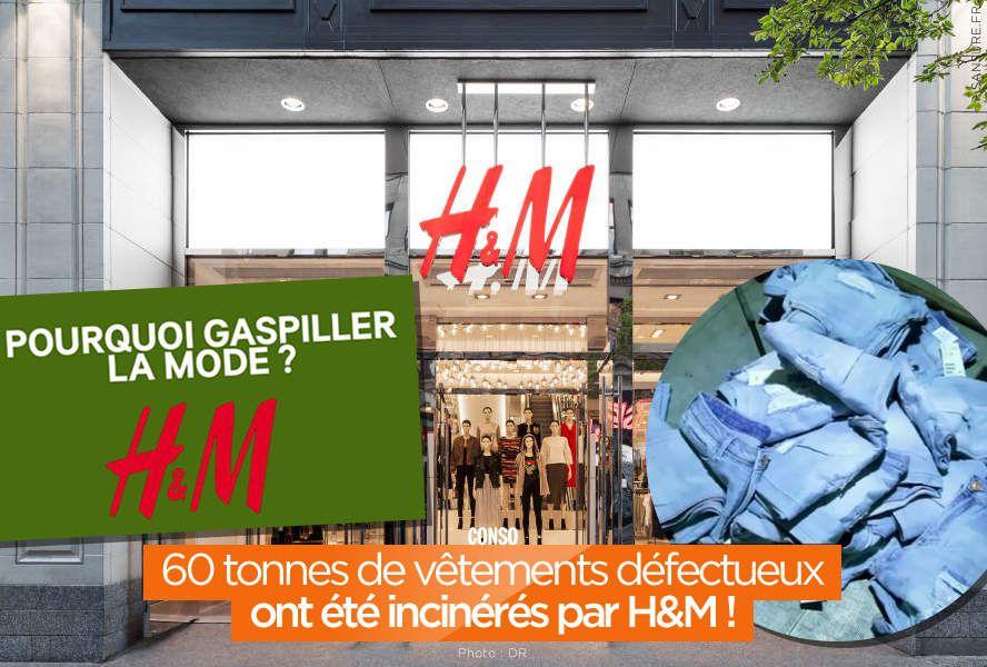 60 tonnes de vêtements défectueux ont été incinérés par H&M ! #gaspillage