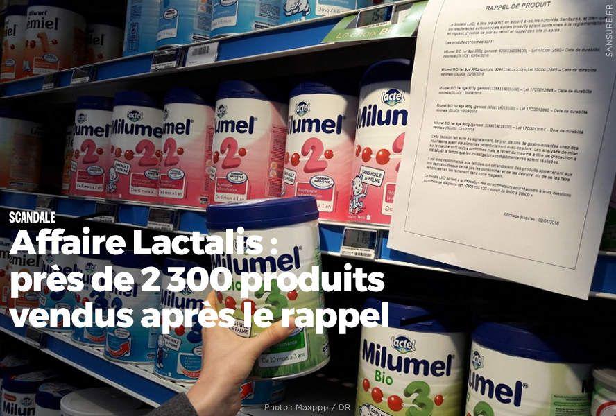 Affaire Lactalis : près de 2 300 produits vendus après le rappel #Lactalis