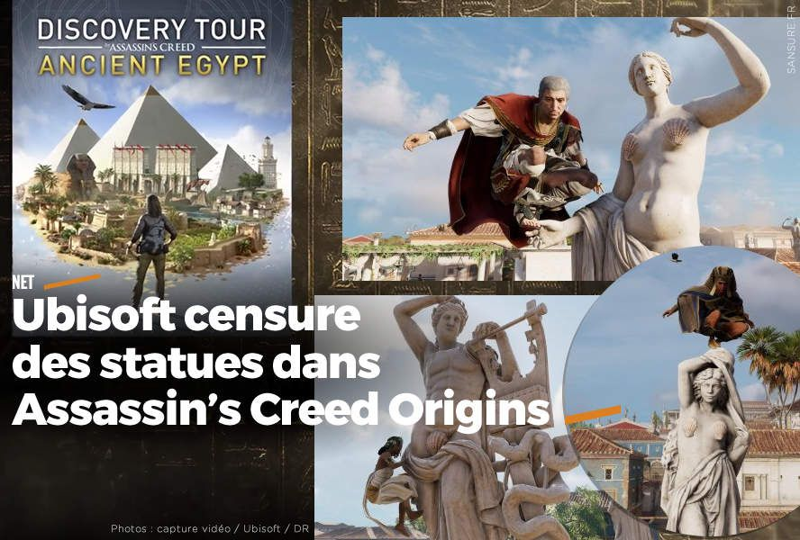 Ubisoft censure des statues dans Assassin's Creed Origins #censure