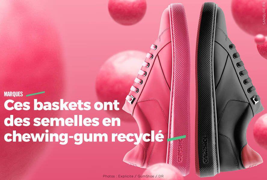 Ces baskets ont des semelles en chewing-gum recyclé #GumShoe