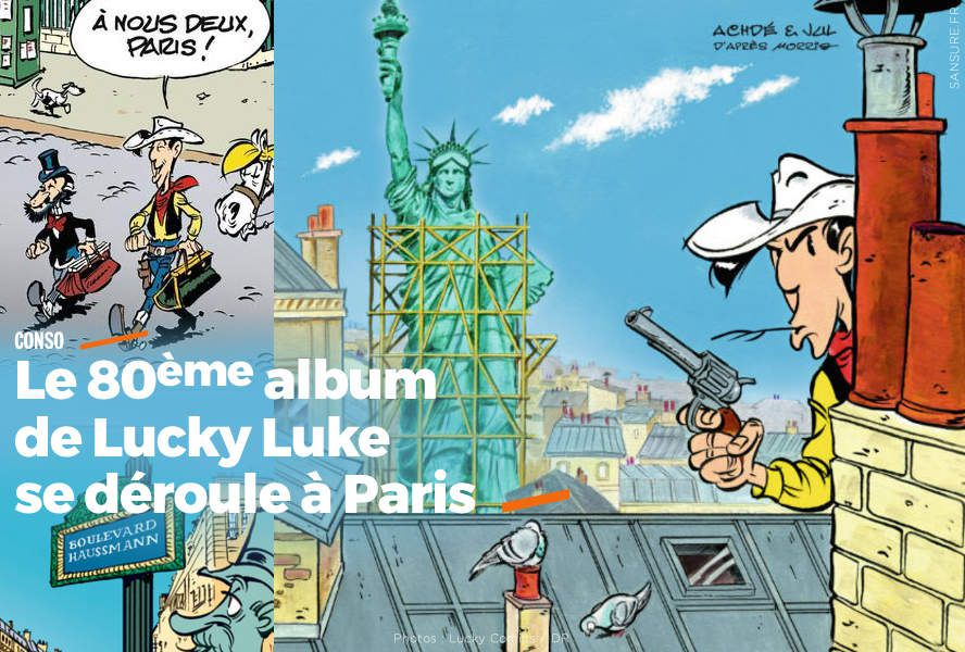Le 80ème album de Lucky Luke se déroule à Paris #LuckyLuke