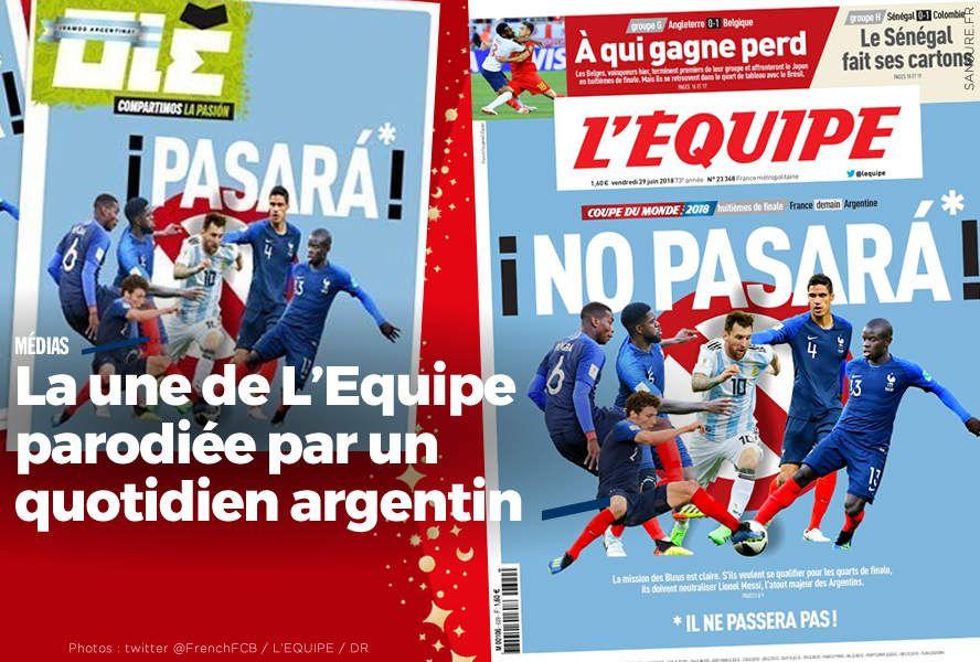 La une de L'Equipe parodiée par un quotidien argentin #CM2018