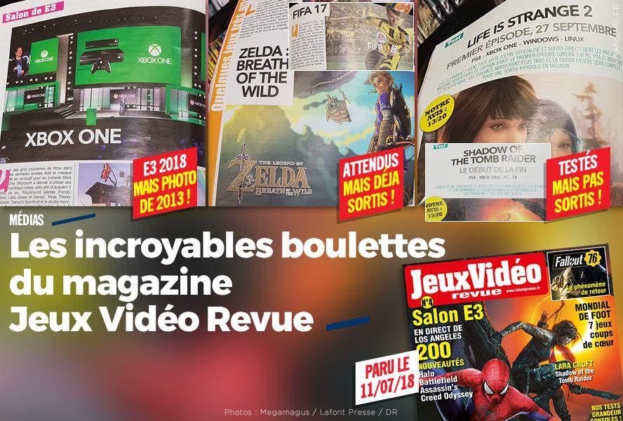 Les incroyables boulettes du magazine Jeux Vidéo Revue #fail