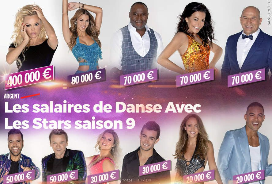 Les salaires de Danse Avec Les Stars saison 9 #DALS