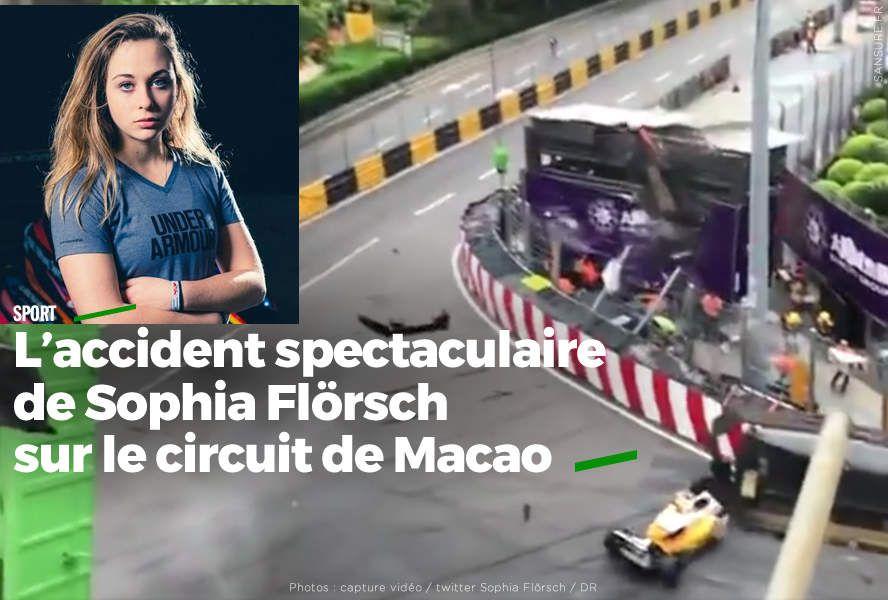 L'accident spectaculaire de Sophia Flörsch sur le circuit de Macao #choc