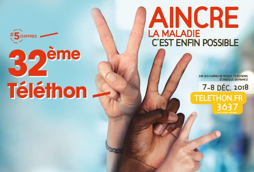 Les 5 chiffres spécial Téléthon ! #5chiffres #Téléthon2018 #VaincreLaMaladie ✌