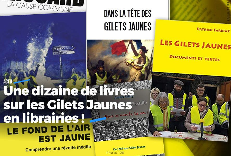 Une dizaine de livres sur les Gilets Jaunes en librairies ! #Business