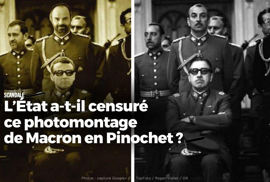 L'État a-t-il censuré ce photomontage de Macron en Pinochet ? #censure